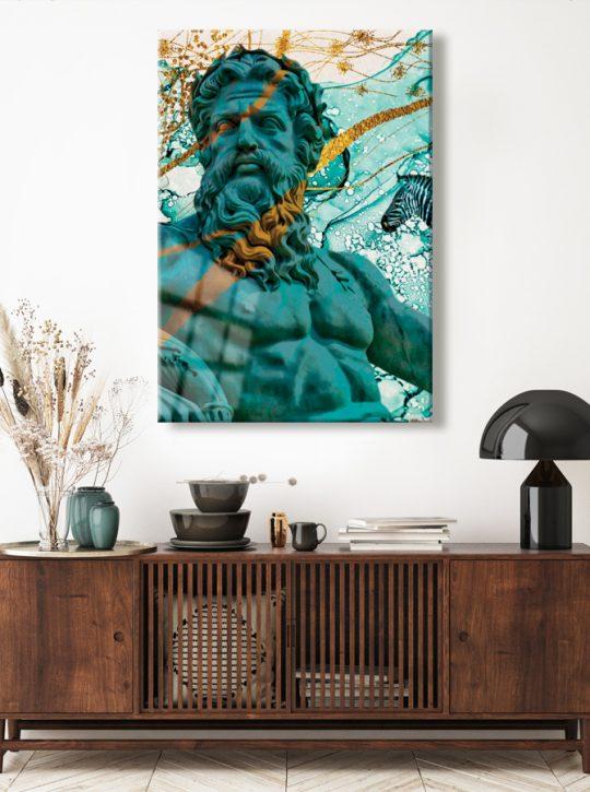 Zeus Glass Art Poster